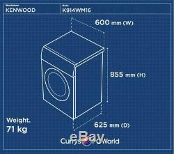 Kenwood K914wm16 Lave-linge Blanc Currys