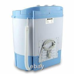 Laveuse Portable Compacte Et Sécheuse Avec Mini Machine À Laver Et Sécheuse À Spin, Blanc