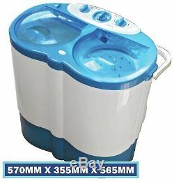 Leisurewize 3kg Double Baignoire Machine À Laver Portable