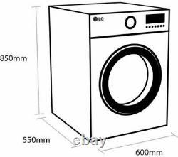 Lg Direct Drive F4mt08we 8kg 1400 Spin Machine À Laver Blanche + Garantie De 2 Ans