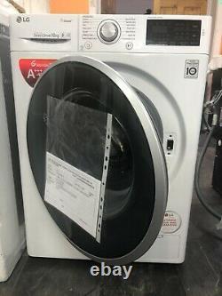 Lg F4j610ws 10kg Charge 1400 Spin Machine À Laver Blanche Classée