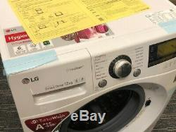 Lg Fh495bds2 12kg Machine À Laver Avec Véritable Vapeur Et De La Technologie Turbowash