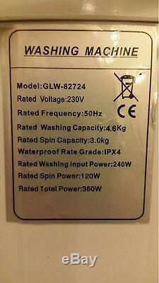 Loisirs Direct Double Portable 230v 4,6 KG Lave-linge Spin Sèche-linge Électrique Pompe