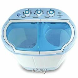 Machine De Lavage Compact Blanc/bleu Mini Et Sécheuse À Spin