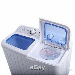 Mini Lave-linge Lave-linge Set Spin Rv Camper Lavage Séchage Combo Blanc