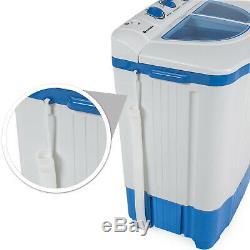 Mini Machine À Laver 4,5 KG Portable Double Cuve Camping Laveuse + Sécheuse Spin