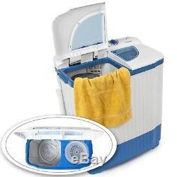 Mini Machine À Laver 4,5 KG Portable Double Cuve Camping Laveuse + Spin Sécheuse Nouveau
