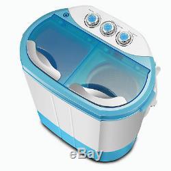 Mini Portable De Dorm Lave-linge Double Baignoire Sèche-linge Compact Laveuse