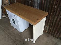 Rustique Pine Double Appliance Gap Logement Sèche-linge Lave-vaisselle Couverture Lave-vaisselle