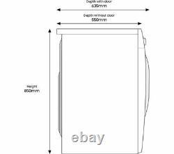 Samsung Series 5 Ecobubble Ww80ta046ae/eu 8 KG 1400 Machine À Laver Le Fil Blanc