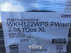 Stackable Miele Wkh122wps Machine À Laver + Miele Tkr850wp Sécheuse +kit D'empilage
