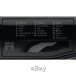 Tout Neuf Coffret Hotpoint Fml842k 8 KG Machine À Laver, 1400 Spin, A ++, Noir