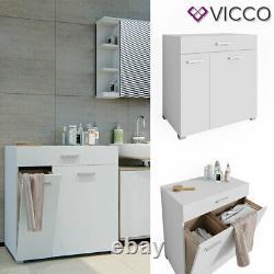 Vicco Panier À Linge Matteo Lave-linge Salle De Bains Cabinet Cabinet XL Blanc